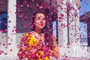 It's not everyday you are showered with hundreds of rose petals. Smiling like I mean it :)